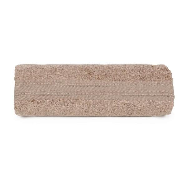Hnedá osuška z bavlny a bambusového vlákna Lavinya, 70×140cm