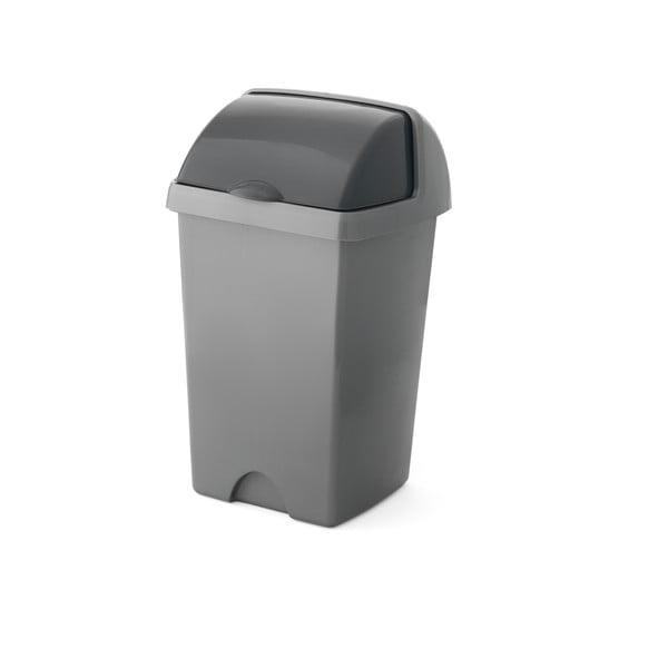 Väčší sivý odpadkový kôš Addis Roll Top, 31 x 30 x 52,5 cm