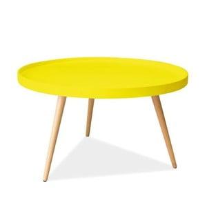 Konferenční stolek Toni 78 cm, žlutý