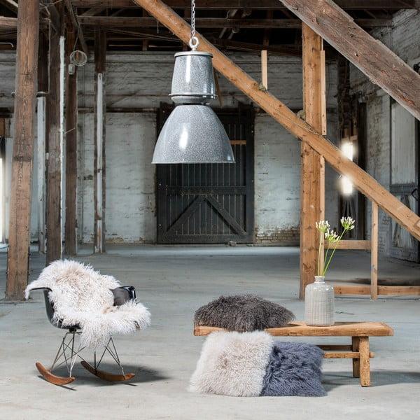 Kožešina z islandské ovce White Black, 120x60 cm
