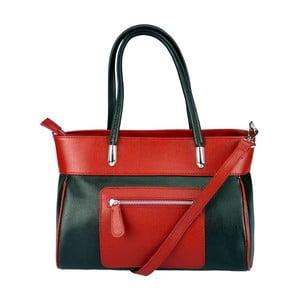 Kožená kabelka Sabrina Red & Black
