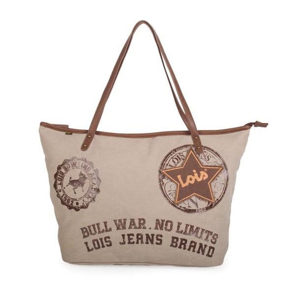 Béžová plátěná taška Lois Playera