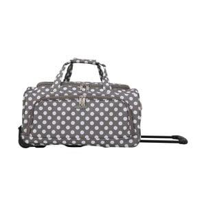 Šedá cestovní taška na kolečkách Travel World Raisa, 34l