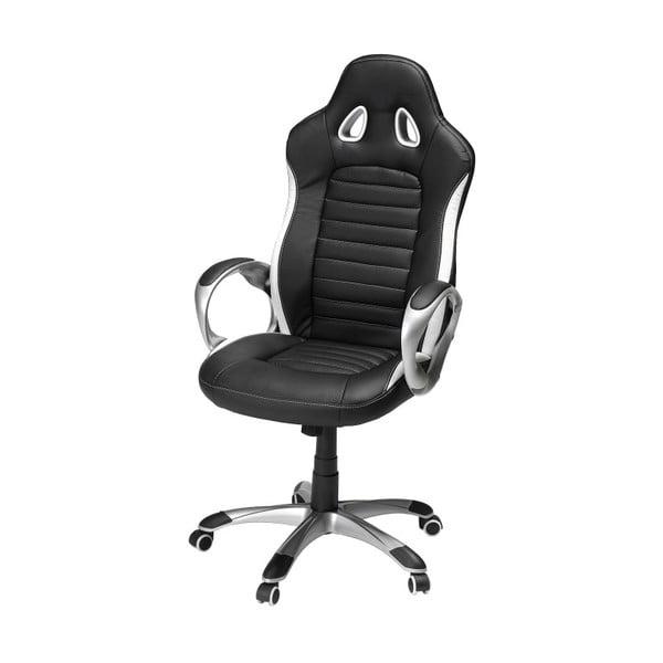 Czarno-biały fotel biurowy Furnhouse Speedy 2
