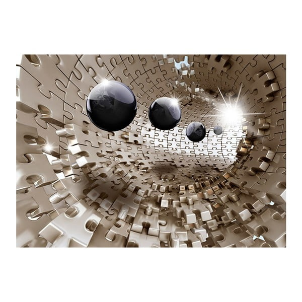 Velkoformátová tapeta Artgeist Golden Jigsaw, 300x210cm