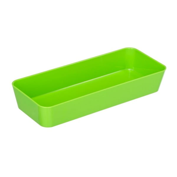 Zelený úložný box Wenko Candy, 24 x 10 cm