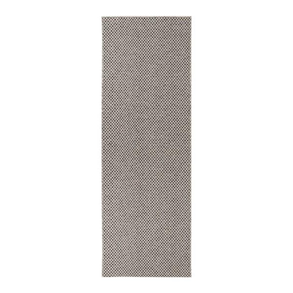 Diby krémszínű-fekete kültéri futószőnyeg, 70 x 300 cm - Narma