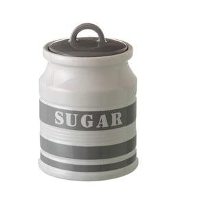 Šedá dóza z kameniny na cukr Unimasa Urban, 80 ml