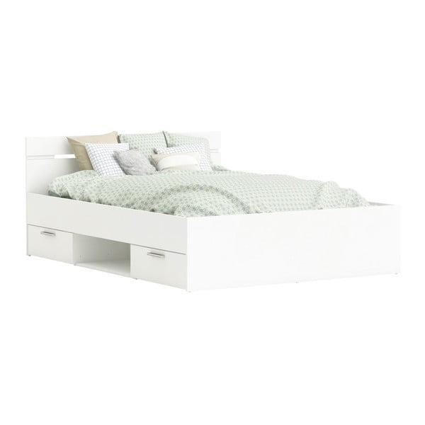 Białe łóżko Tim, 140x190cm