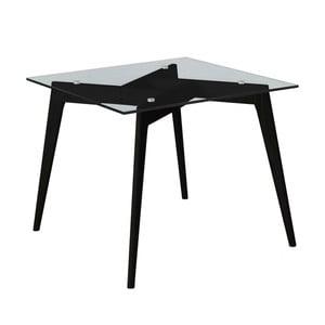 Čtvercový jídelní stůl s černýma nohama Marckeric Janis, 90 x 90 cm
