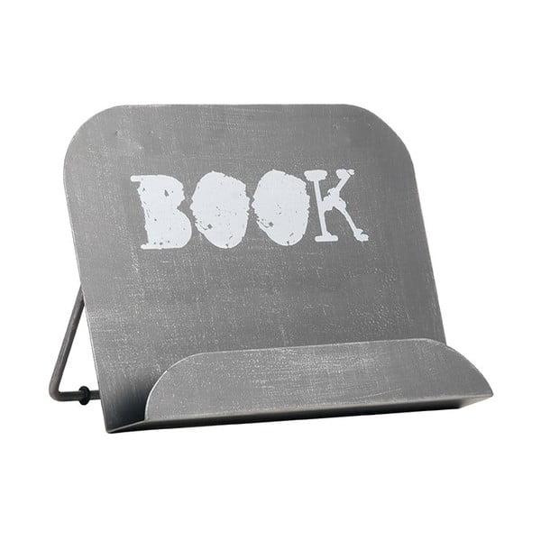 Šedý kovový stojan na knížku LABEL51