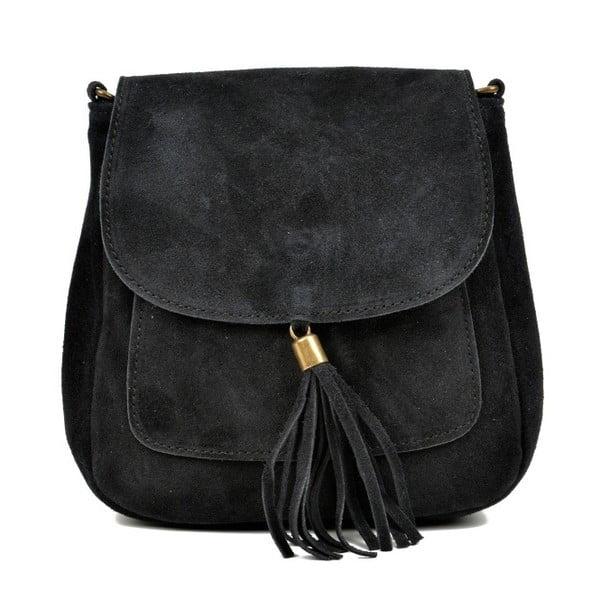 Čierna kožená kabelka Anna Luchini Ben
