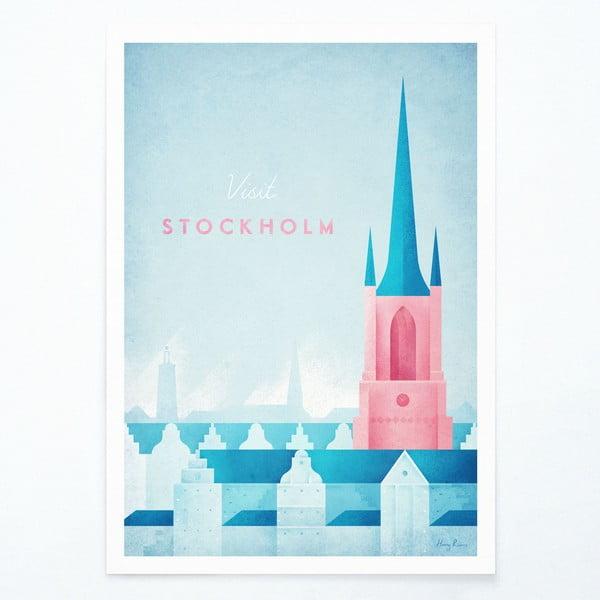 Plakát Travelposter Stockholm, A2