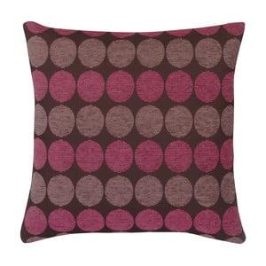Puntíkovaný polštář s výplní 45x45cm, růžová