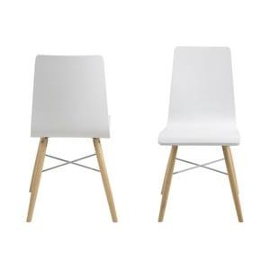 Bílá jídelní židle Actona Milton