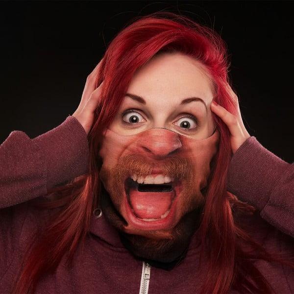 Lyžařská maska Beardo Gary Man