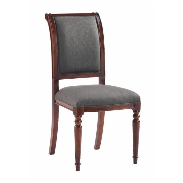 Šedá polstrovaná buková jídelní židle Rowico Mozart