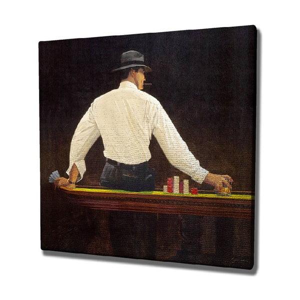 Player vászon fali kép, 45 x 45 cm