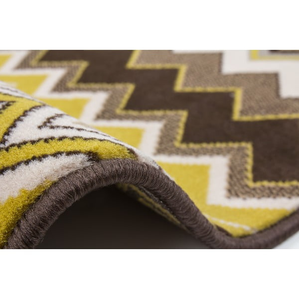 Žluto-černý koberec Kayoom Stella 700 Yellow, 120x170cm