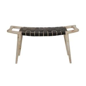 Černá stolička z dřeva mindi a kravské kůže Santiago Pons Tony
