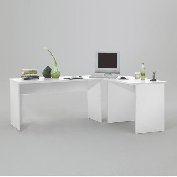 Bílý rohový pracovní stůl 13Casa Till