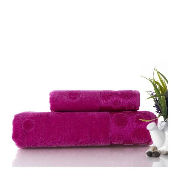 Sada 2 ručníků Tropical Fuchsia, 50x90 cm a 70x140 cm