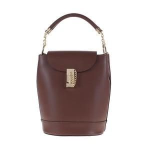 Hnědá kožená kabelka / batoh Tina Panicucci Slimo