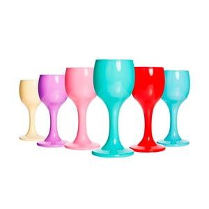 Sada 6 barevných matných skleniček Okyanus