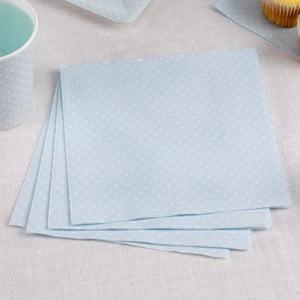 Sada 16 modrých papírových ubrousků Neviti Polka Dot