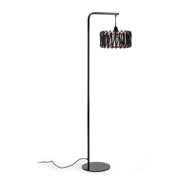 Macaron állólámpa fekete konstrukcióval és kis fekete lámpabúrával - EMKO