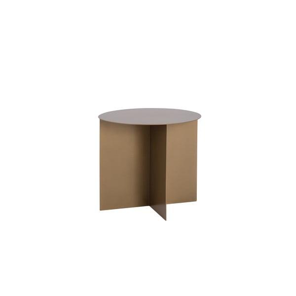 Oli aranyszínű fém dohányzóasztal, ⌀ 50 cm - Costum Form