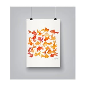 Plakát Americanflat Goldfish, 30x42cm
