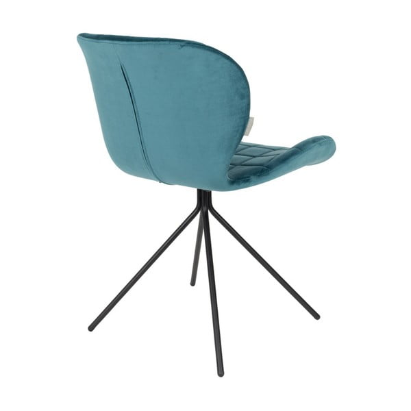 Sada 2 petrolejově modrých židlí Zuiver OMG Velvet