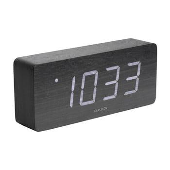 Ceas alarmă, decor lemn, Karlsson Cube, 21 x 9 cm imagine
