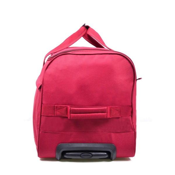Růžová cestovní taška na kolečkách Hero,43l