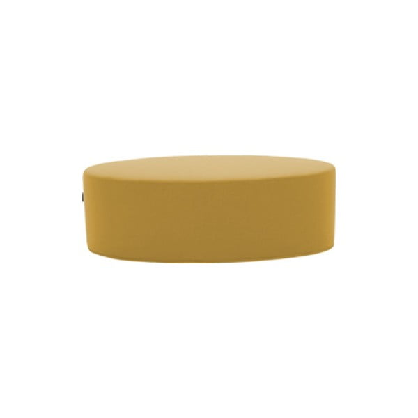 Žlutý puf Softline Bon-Bon Vision Yellow, délka 120 cm