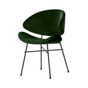 Lahvově zelená židle s šedými nohami Iker Cheri