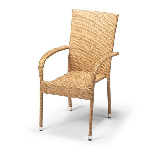 Zahradní židle Timpana Frenchie v cappuccino hnědé barvě, výška 95 cm