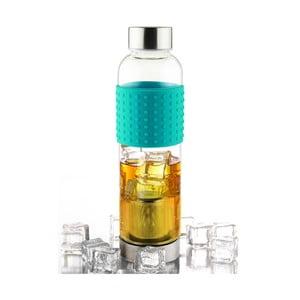 Tyrkysová lahev na ledový čaj Asobu IT2GO, 420 ml