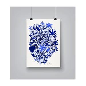 Plakát Americanflat Garden in Blue, 30x42cm