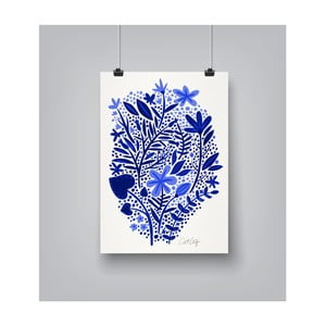 Poster Americanflat Garden in Blue, 30 x 42 cm