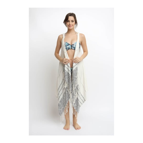 Calm női pareo pamutból és bambuszból, kapucnival - Bergonville