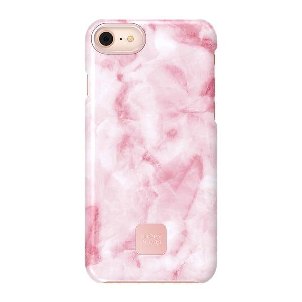 Slim rózsaszín márványmintás telefontok, alkalmas iPhone 7 és 8 - Happy Plugs