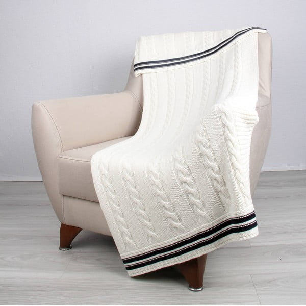 Světle béžová bavlněná deka Ciana