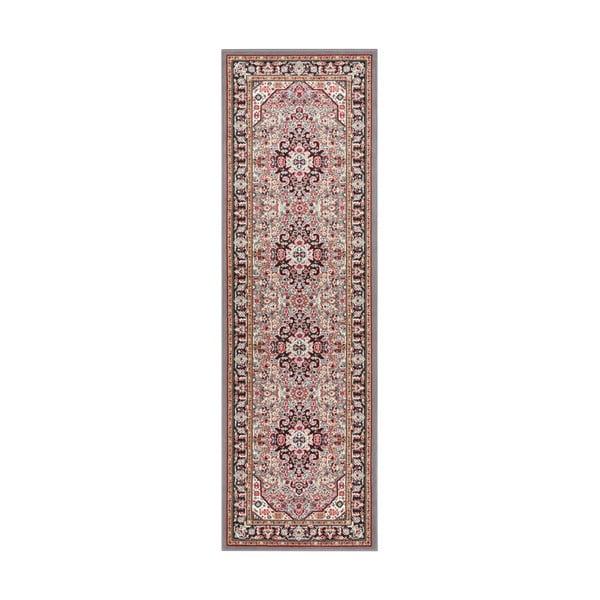 Szaro-brązowy chodnik Nouristan Skazar Isfahan, 80x250 cm