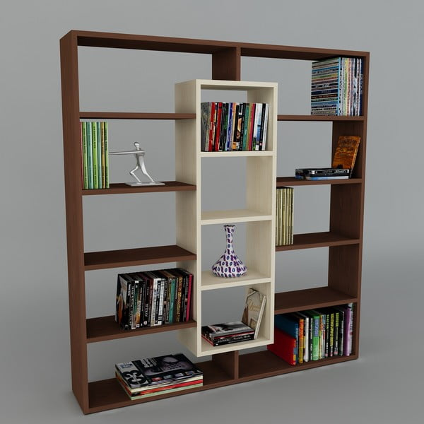 Knihovna Ample Wenge/Maple, 22x125x135,7 cm