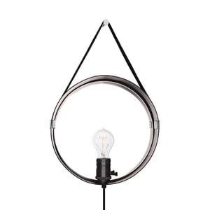 Černé nástěnné svítidlo v barvě chromu GlobenLighting Hangover