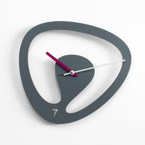 Nástěnné hodiny Seven, šedé