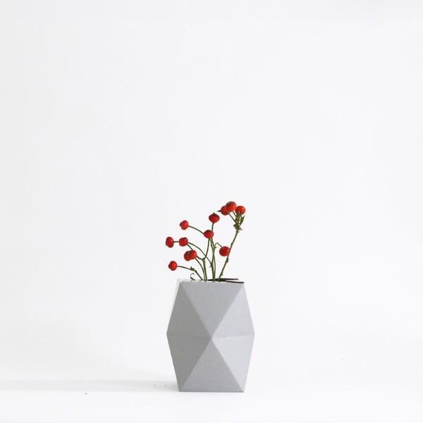 Skládací origami váza SNUG.Low Grey