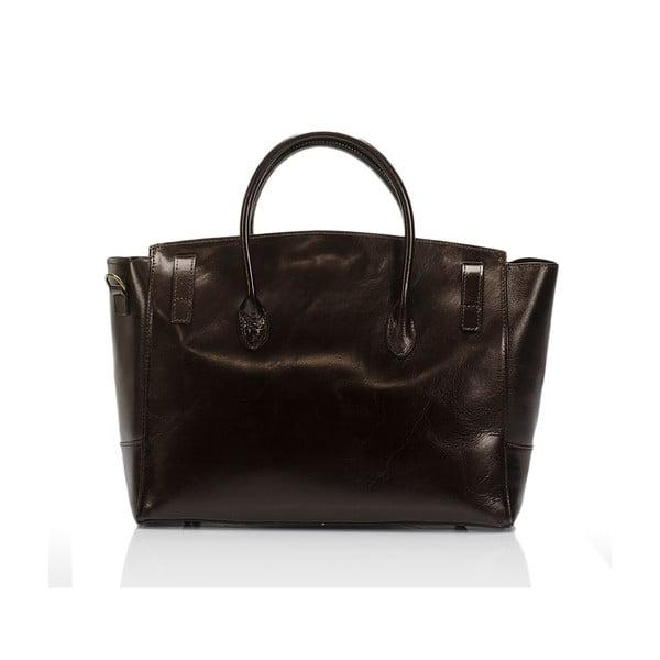 Tmavě hnědá kožená kabelka Lisa Minardi Pomona